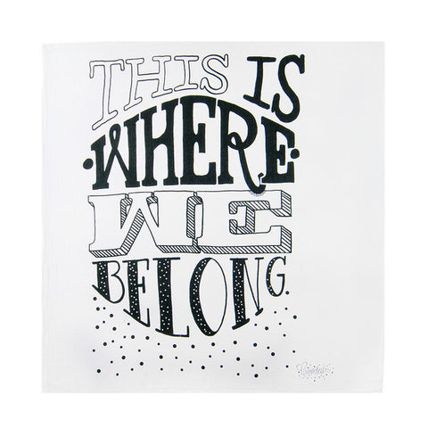 Coveted Things | Where We Belong Baby Swaddle Blanket | www.theminilife.com