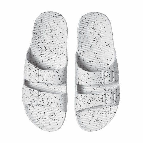 Moses | Kids Freedom Slipper - White Splatter | The Mini Life, Canada