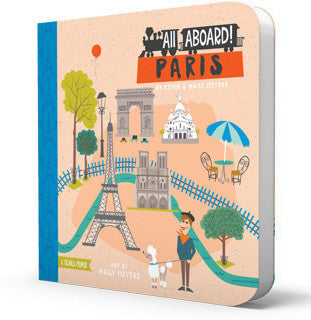 BabyLit | All Aboard! Paris Board Book | www.theminilife.com