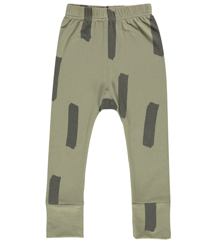 Paint Brush Baby Slim Pants - Stone Washed Olive Green (1 LEFT)
