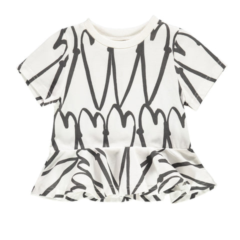 Beau Loves | Love Hearts Wave Top | The Mini Life