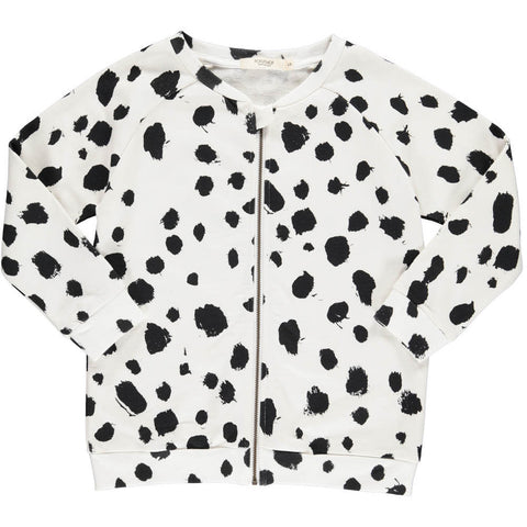 Popupshop Kids | White Leopard Base Sweater with Zip | The Mini Life, Canada