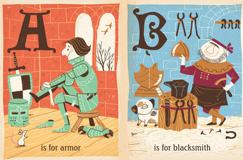BabyLit | C Is for Castle: A Medieval Alphabet Board Book | www.theminilife.com