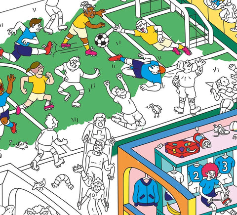 OMY | Football Giant Coloring Poster