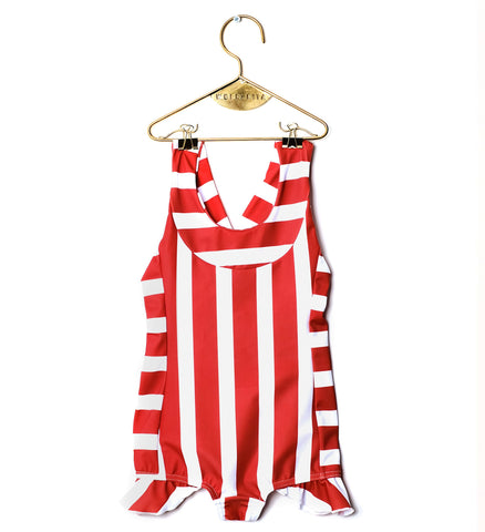 Wolf and Rita Iris Swimsuit - Red Stripes