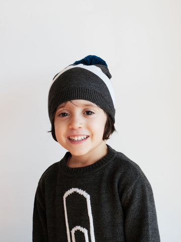 Wolf and Rita Jorge Beanie Grey/White - The Mini Life AW17