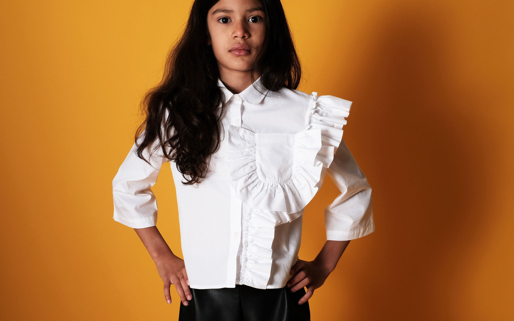 Wolf and Rita Carolina Blouse White - The Mini Life