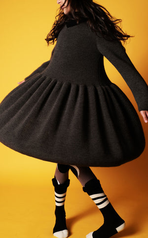 Wolf and Rita Helena Dress Grey - The Mini Life AW17