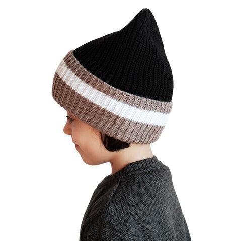 Wolf and Rita Mario Beanie Black - The Mini Life AW17