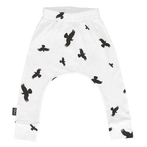 Moi Kidz | White Raven Baggy Pants | The Mini Life, Canada