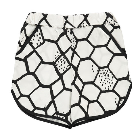 Love Net Old School Shorts - Stone Washed Vanilla