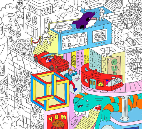OMY | Party Giant Coloring Poster
