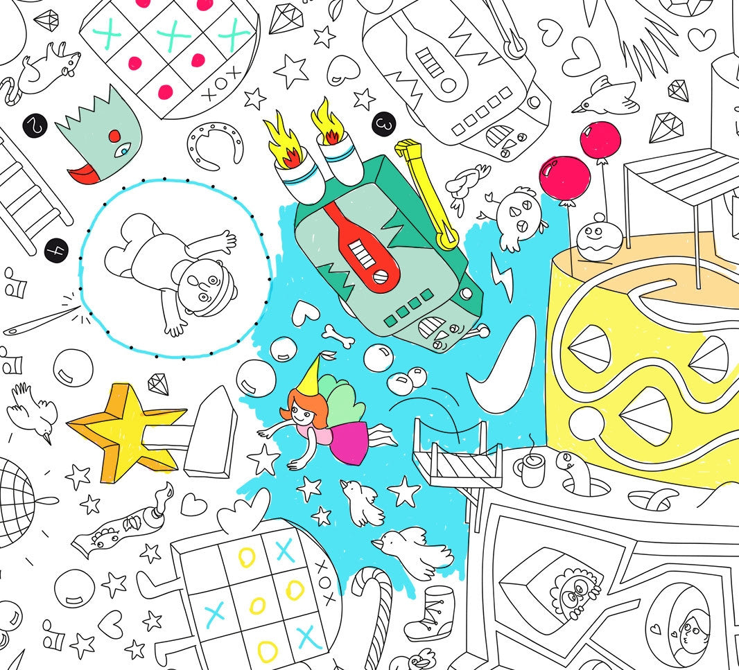 Omy design and play games coloring poster the mini life - Petit quick coloriage ...
