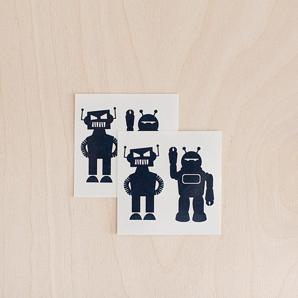 tattly | bot buddies temporary tattoo | www.theminilife.com