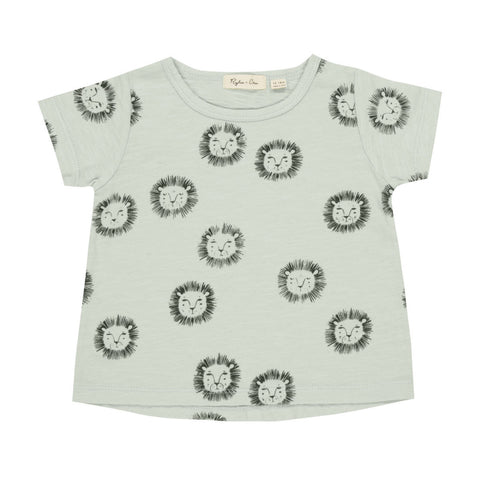 Rylee and Cru | Lions Basic Tee - Mint | The Mini Life