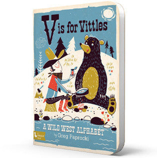 BabyLit | V Is for Vittles: A Wild West Alphabet Board Book | www.theminilife.com