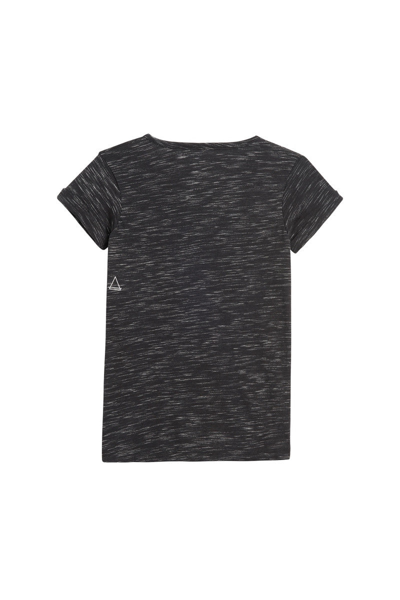 Little Eleven Paris | Wonder Women Black Melange Tee