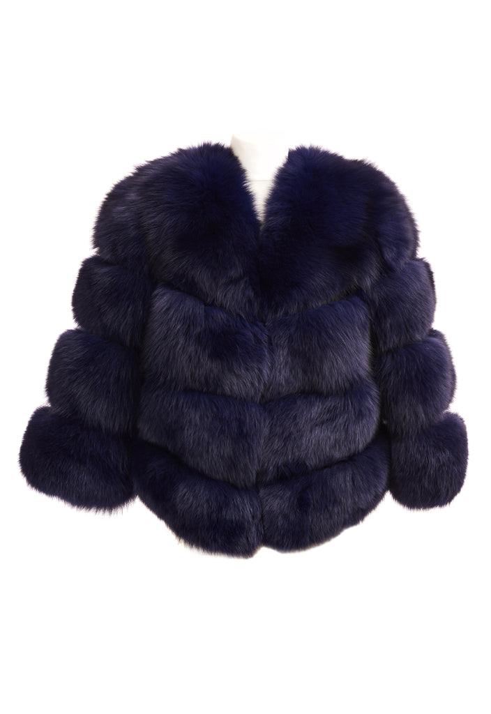 Faux Fur Kensington Jacket - Navy