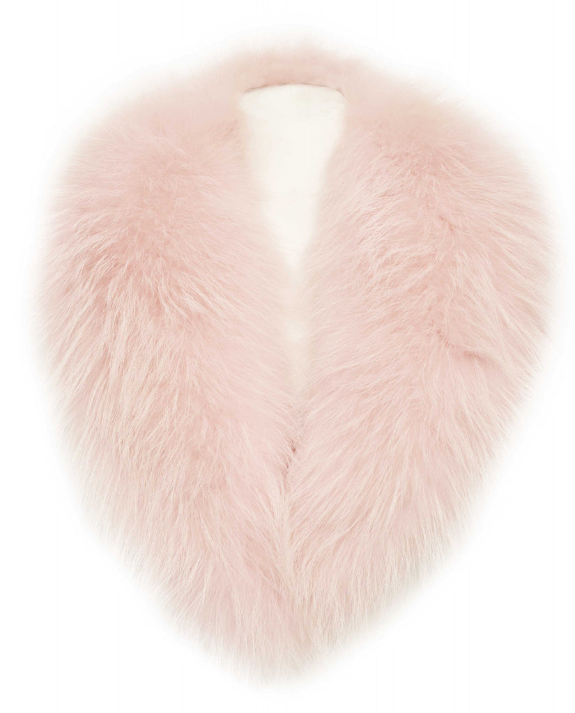 Light Pink Fox Fur Collar
