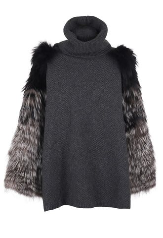 Silver Fox Cashmere Jumper Charcoal