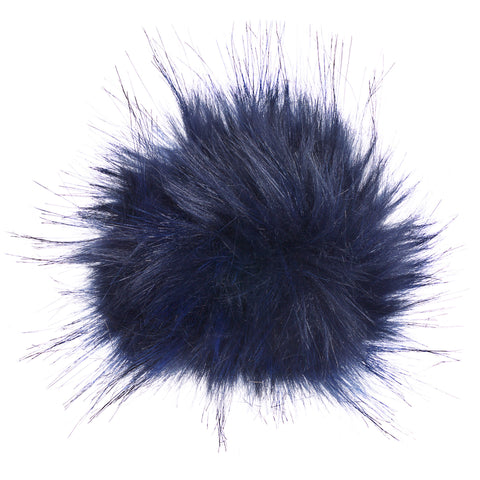 Faux Fur Hat Replacement Pom Pom - Navy