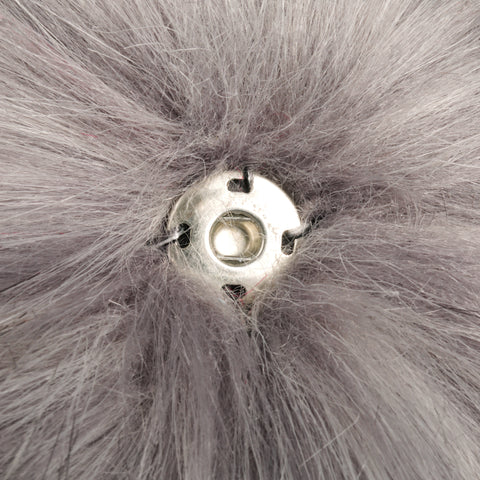 Faux Fur Hat Replacement Pom Pom - Grey