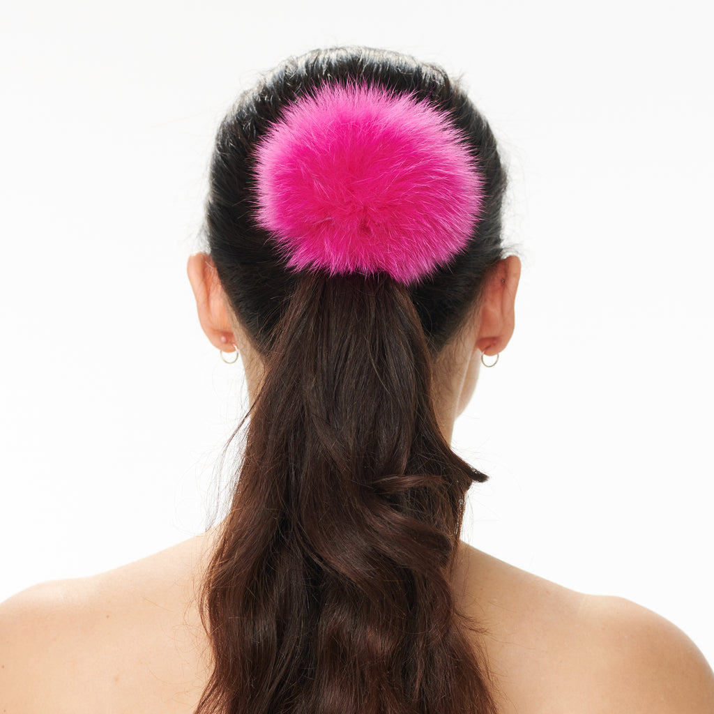 Hally Hair Pom Pom - Hot Pink