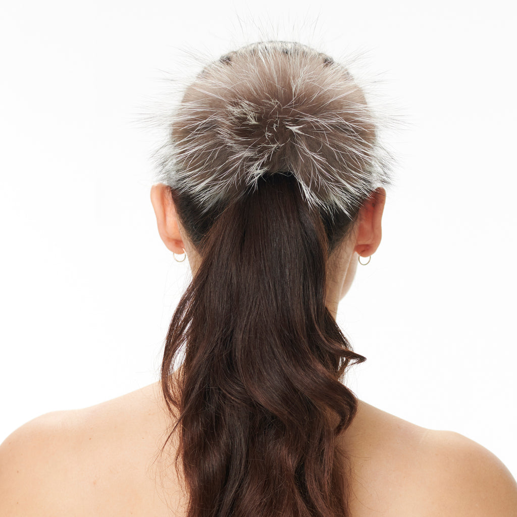 Hally Hair Pom Pom - Silver Fox
