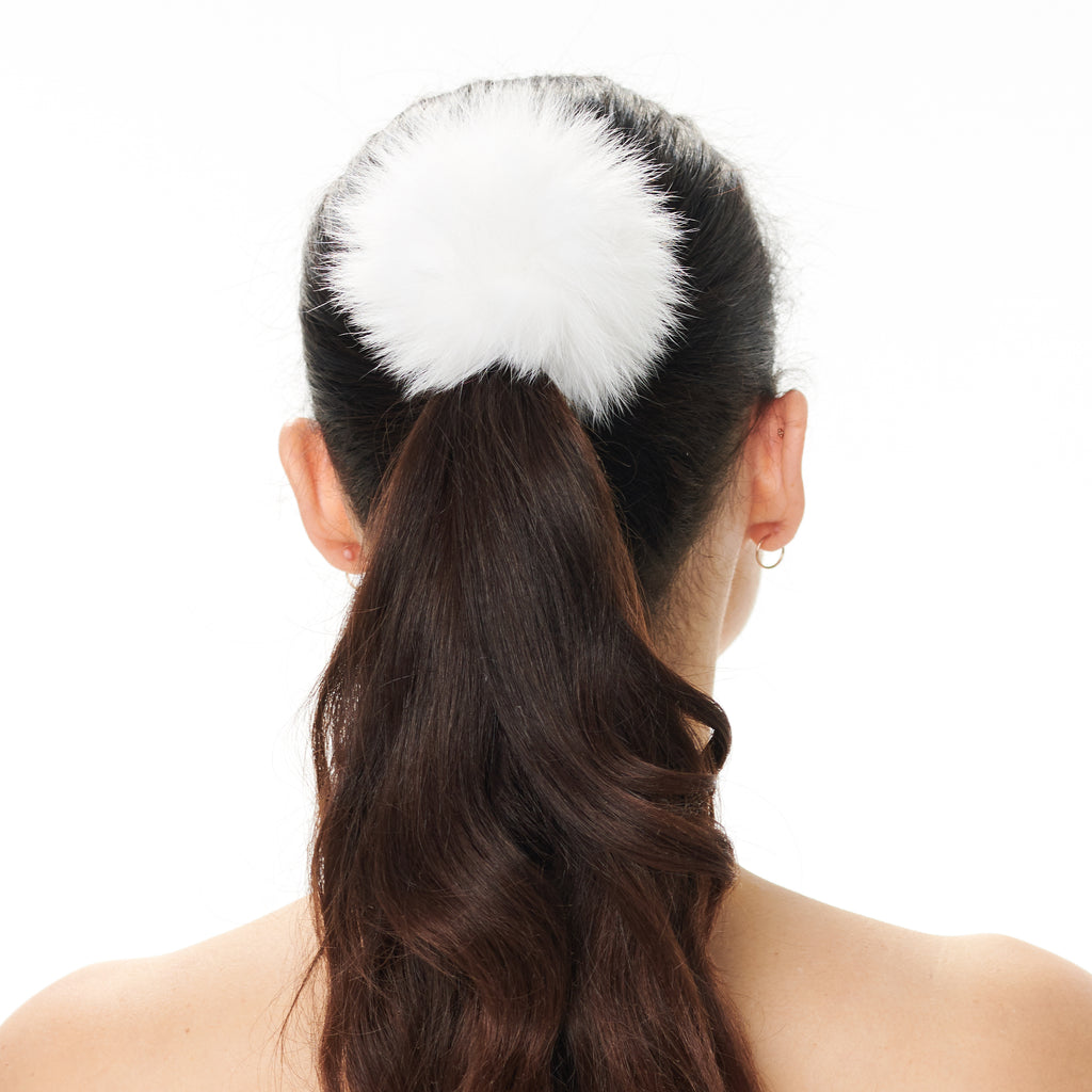 Hally Hair Pom Pom - White