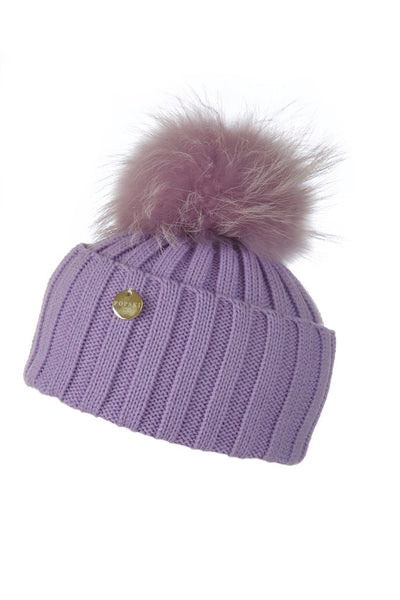 27c43325237 lilac hat with matching raccoon fur pom pom – Popski London