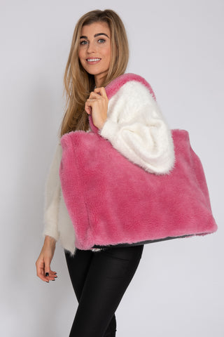 Teddy Tote - Hot Pink