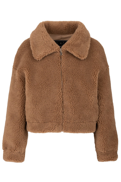 Cropped Teddy Coat