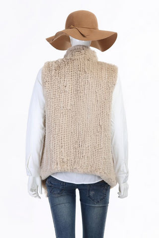 Waterfall Fur Gilet - Natural