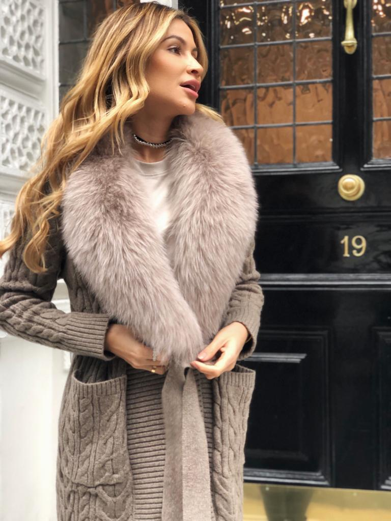 The Juli Wrap Knit - Fox Fur