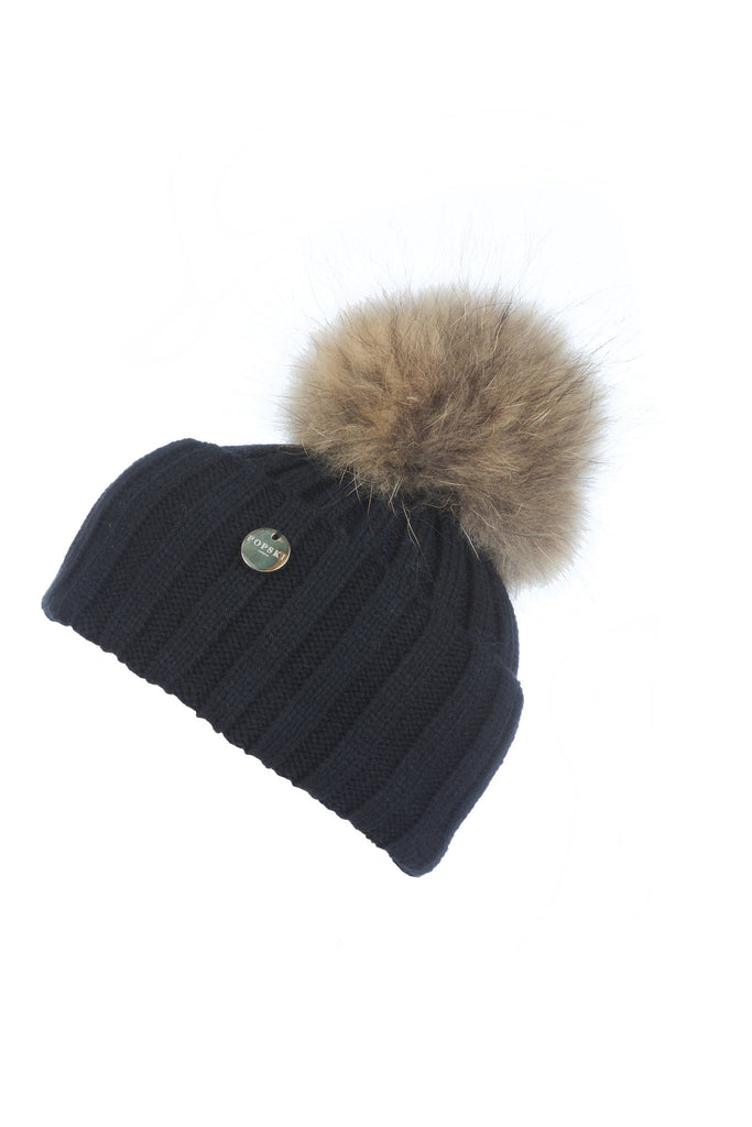 Raccoon Fur Pom Pom Hat – Popski London e2f577e52fe9
