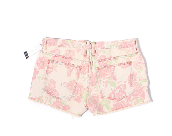 CURRENT ELLIOTT Red Rose The Boyfriend Shorts Sz 27