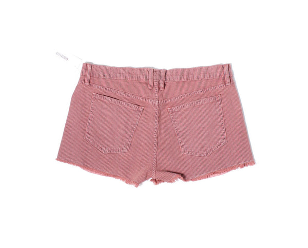 CURRENT ELLIOTT Rosewood Pink Navy Stripe Shorts Fits Like Sz 12