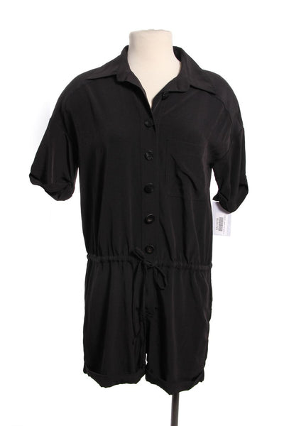 ELIZABETH AND JAMES Black Romper Jumpsuit Size XS