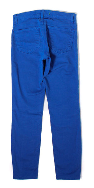 J BRAND Bright Royal Blue Cropped Jean Sz 25