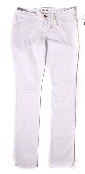 J BRAND 912 White PFD Wash Denim Low Rise Pencil Leg Jeans Sz 31