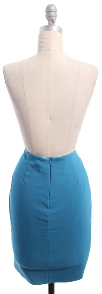 L'AGENCE Teal Pencil Skirt Sz 2