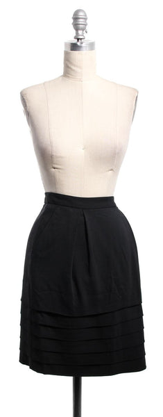 MARC BY MARC JACOBS Black Tiered Pencil Skirt Sz 2
