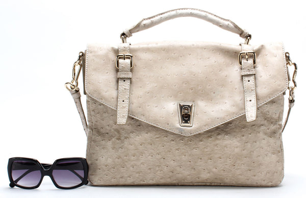 MARC BY MARC JACOBS Authentic Beige Leather Satchel Handbag