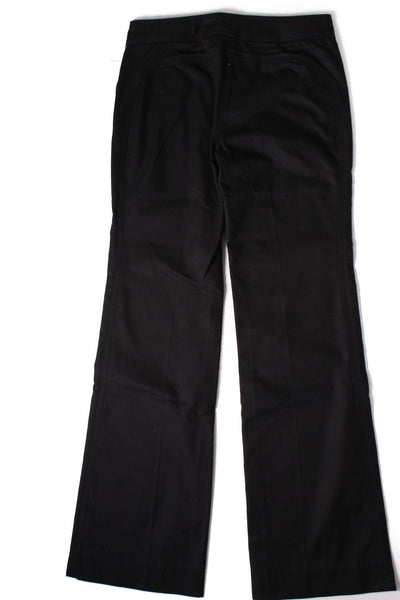 MARC JACOBS Black Wide Leg Circle Detail Dress Pants Sz 8