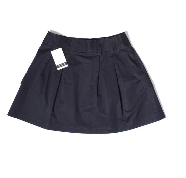THEORY Navy Blue Pleated Cargo Skirt Sz 4