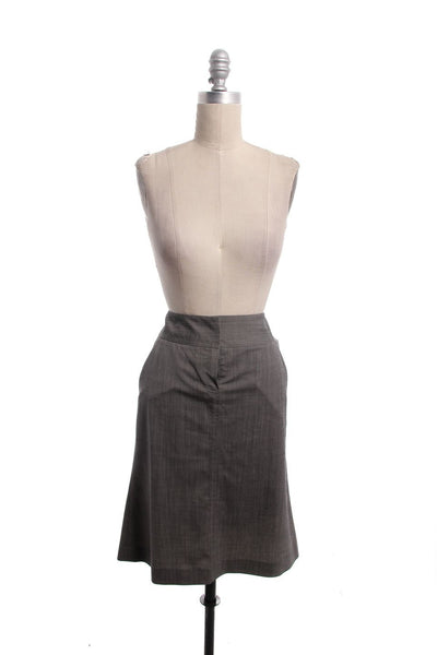THEORY Gray Straight, Pencil Skirt Size 4