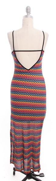 TRINA TURK NWT Multicolor Rainbow Knit Maxi Dress Sz P