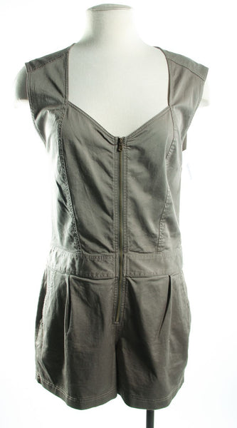 TRINA TURK NWT Green Romper With Front Zip