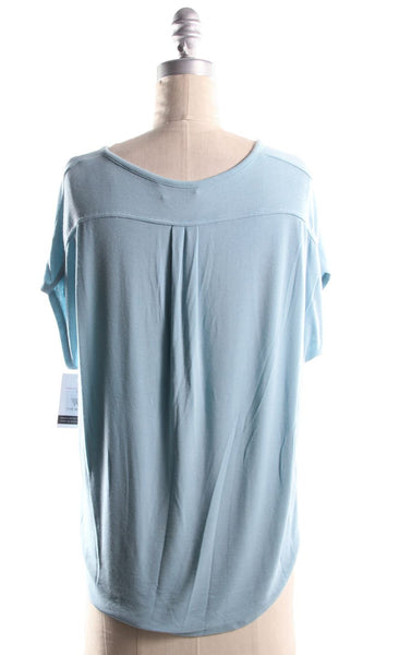 VINCE Light Blue Oversize Sleeveless Drop Shoulder T Shirt Sz XS