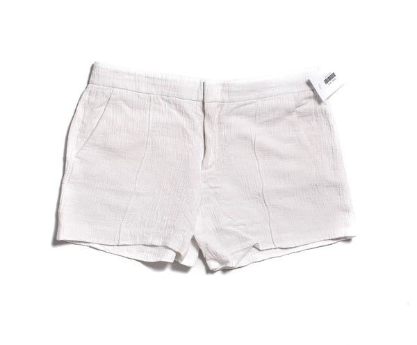 VINCE White Crinkled Casual Shorts Size 10